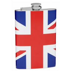 8oz British Flag Hip Flask