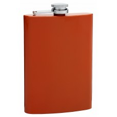 Burnt Orange 8oz Painted Hip Flask