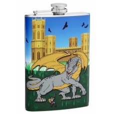 "8oz ""Dragon Slayer"" Hip Flask"