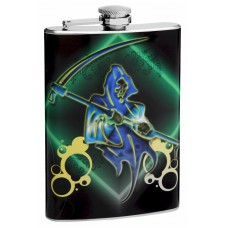 "8oz ""The Reaper"" Hip Flask"
