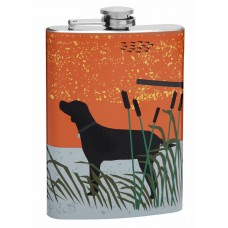 8oz Hip Flask with Hunting Theme