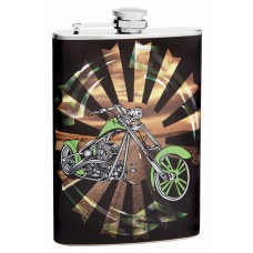 8oz Motorcycle Theme Flask