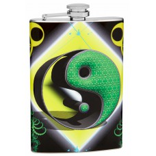 8oz Yin-Yang Hip Flask