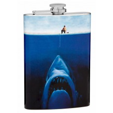"8oz ""Shark Attack"" Hip Flask"