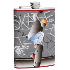 8oz Skateboard Hip Flask
