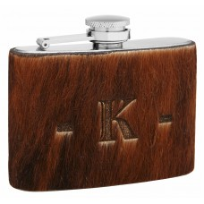 4oz Genuine Fur Hip Flask With Free Personalized Branding