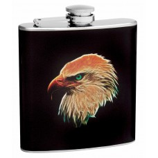 6oz Hip Flask with Eagle Head Design