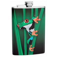 8oz Tree Frog Hip Flask