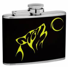 "4oz ""Howling Wolf"" Hip Flask"
