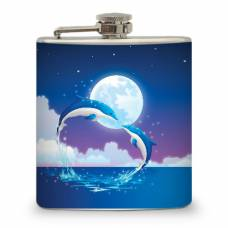 6oz Dolphins Heart Flask