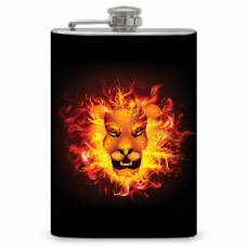 "8oz ""Lion Fire"" Flask"