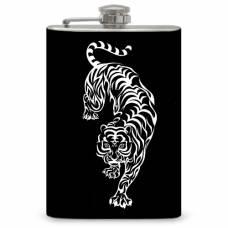 """8oz """"Tribal White Tiger"""" Flask"""