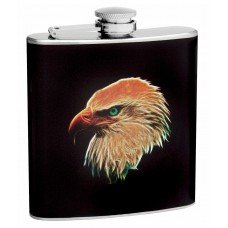 6oz Hip Flask with Eagle Head Design