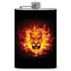 """8oz """"Lion Fire"""" Flask"""