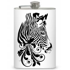 "8oz ""Zebra Head"" Flask"
