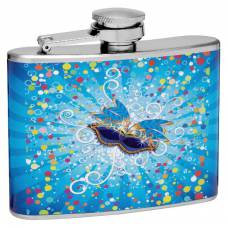 "4oz ""Mardi Gras"" Hip Flask"