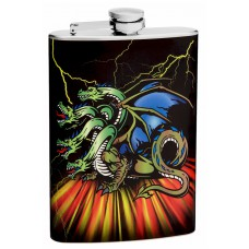 8oz 4-Headed Dragon Flask