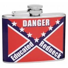 4oz Rebel Flag Educated Redneck Hip Flask