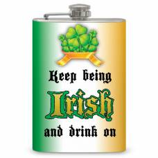 "8oz ""Keep on Being Irish"" Flask"