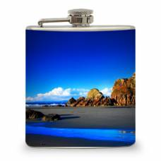 "6oz ""Beach Rock"" Flask"