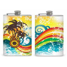 "8oz ""Palm Tree"" Flask"