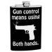 "8oz ""Gun Control"" Hip Flask"