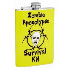 8oz Zombie Apocalypse Survival Kit Hip Flask