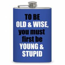 "8oz ""Old vs Young"" Flask"