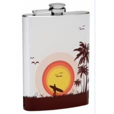 "8oz ""Surfer Sunset"" Flask"