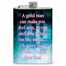 """8oz """"A Good Man"""" Flask"""