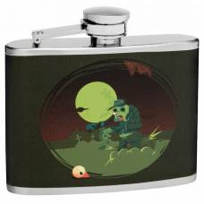 "4oz ""Lost Zombie Eye"" Hip Flask"