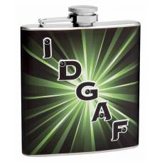 "6oz ""IDGAF"" Hip Flask (I Don't Give a F**k)"