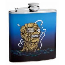 6oz Zombie Head Hip Flask