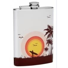 """8oz """"Surfer Sunset"""" Flask"""
