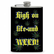 """8oz """"High on Life"""" Flask"""