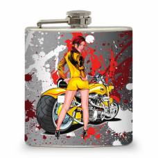 """6oz """"Hot Chic with Motorcycle"""""""