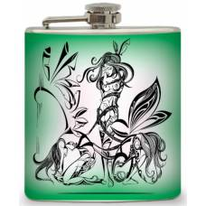 "6oz ""Fairy in Tribal"" Flask"