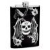 8oz Skull Flask with Bullet Holes