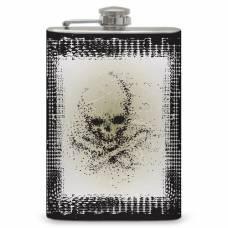 "8oz ""Faded Skull"" Flask"