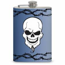 8oz Skull and Barbed Wire