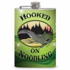 """8oz """"Hooked on Noodling"""" Flask"""