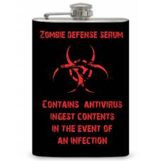 "8oz ""Zombie defense serum "" Flask"