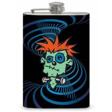 """8oz """"Crazy Frankie Head""""  Flask"""