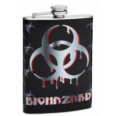 8oz Bio Hazard Hip Flask