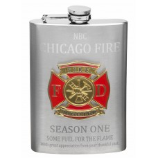 8oz Firefighter Logo Flask with Engraving