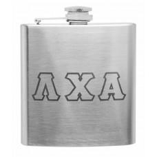 6oz Laser Engraved Greek Letter Fraternity Flask