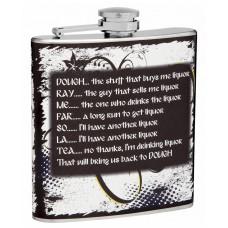 6oz Musical Hip Flask, Do-Re-Mi-Fa