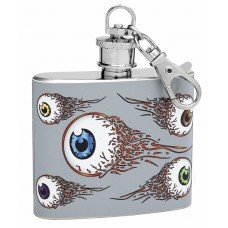 "2oz ""Floating Eyes"" Mini Key Chain Hip Flask"
