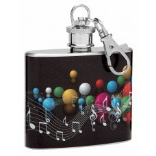 2oz Mini Keychain Flask with Music Theme