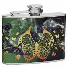 """4oz """"Beautiful Butterflies"""" Hip Flask"""